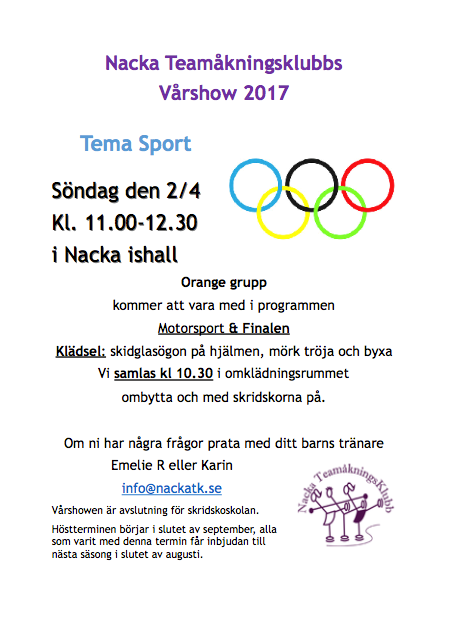 Vårshow 2017 orange grupp
