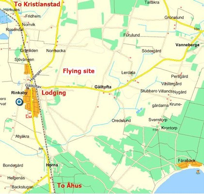 Flying site and Lodging